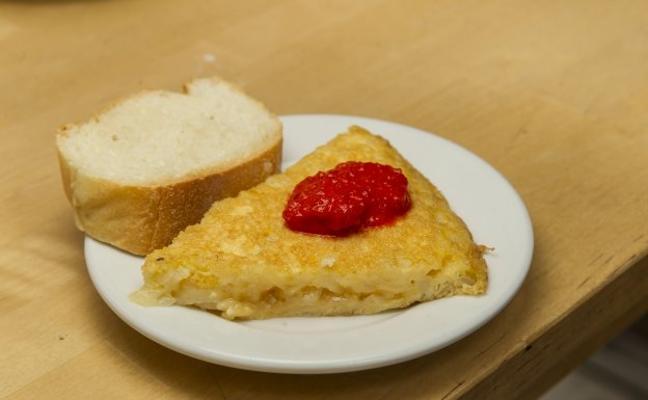 La tortilla de patatas de La Travesía