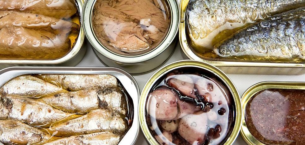 Las conservas y las semiconservas y envasados en latas