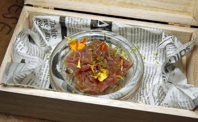 Tartar con un atún de gran calidad
