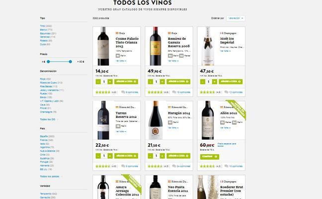 Los vinos premium e internet impulsan las ventas