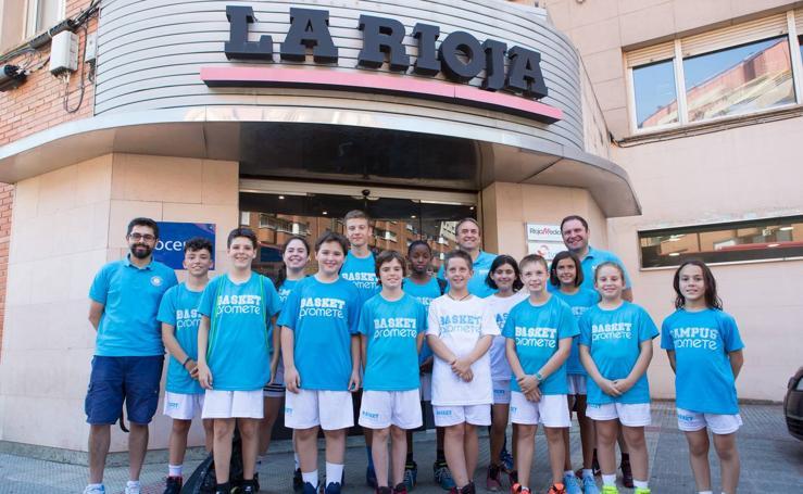 Visita de alumnos del Basket Promete