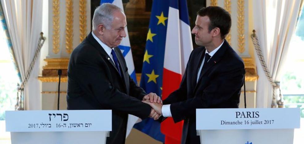 Macron reafirma ante Netanyahu la posición francesa en favor de dos Estados