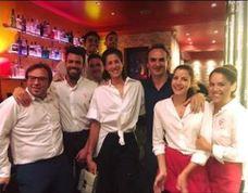 Cena riojana en Londres para celebrar la victoria de Muguruza