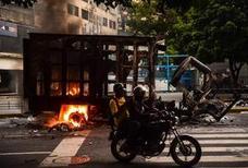 Muere un hombre quemado vivo en una manifestación en Venezuela