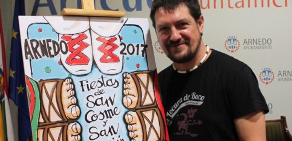 El logroñés David Urdiales gana el concurso del cartel anunciador de las fiestas de Arnedo