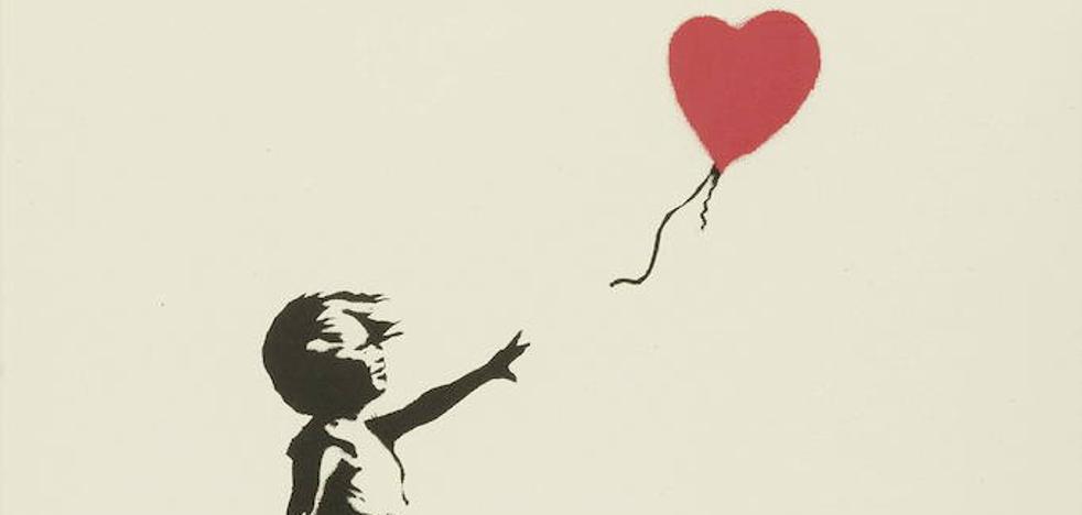 Un grafiti de Banksy, la obra de arte preferida en Reino Unido