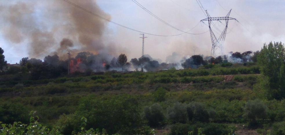 Incendio en el paraje la Rad de Albelda