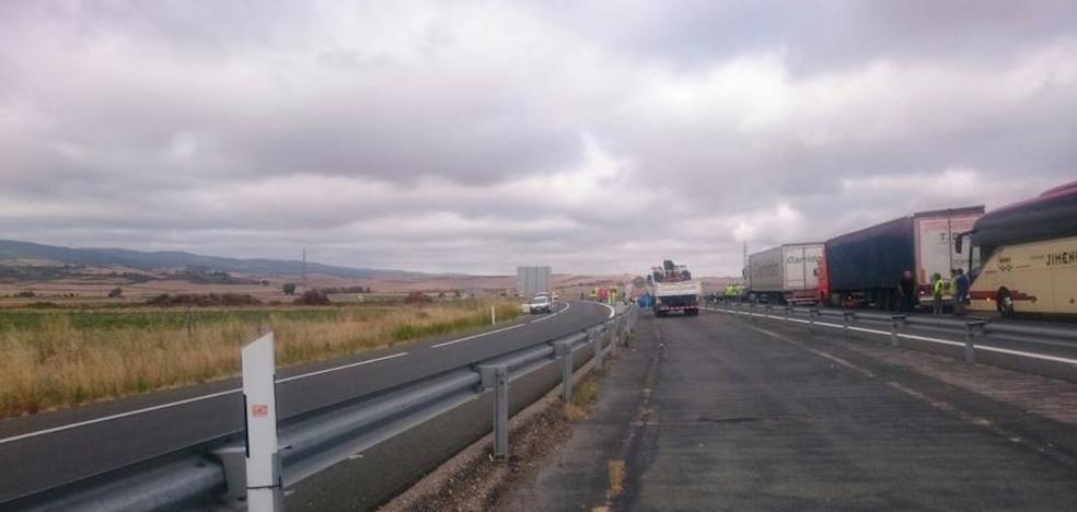 Fallece un operario en la A12 en el término de Santo Domingo