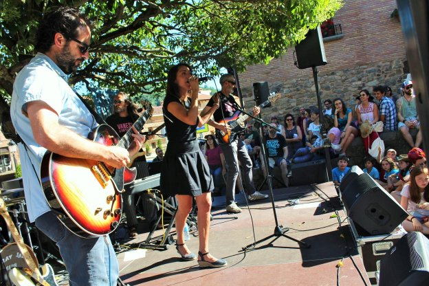 Vanessa & The Criminals durante el V Cameros Blues Festival. :: D.M.A.