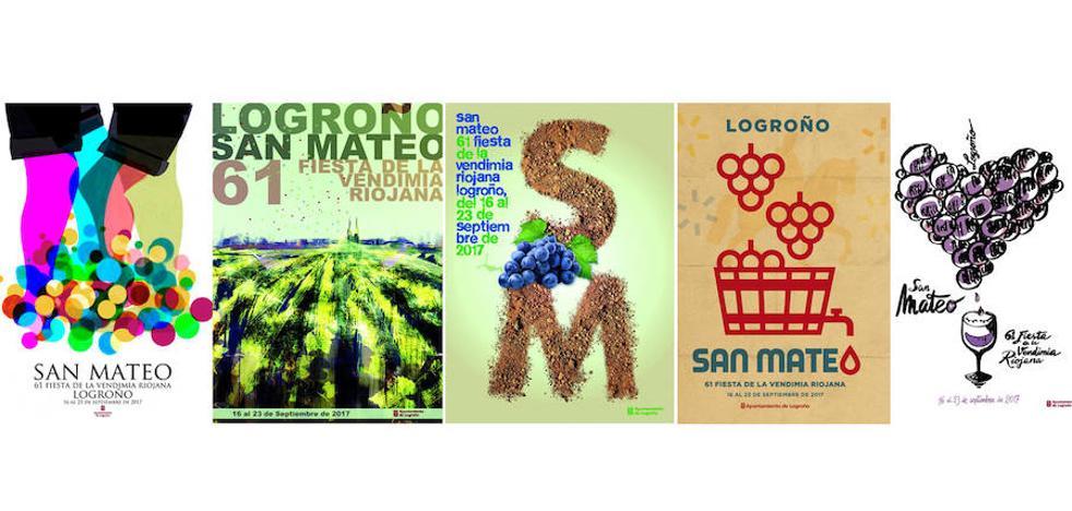 Abierto el plazo para votar entre los cinco carteles finalistas de las Fiestas de San Mateo