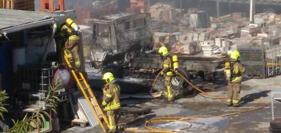 Extinguido un incendio en el Camino Viejo de Oyón