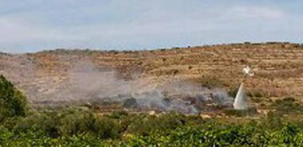 Sofocado el incendio del término de Las Minas en Igea