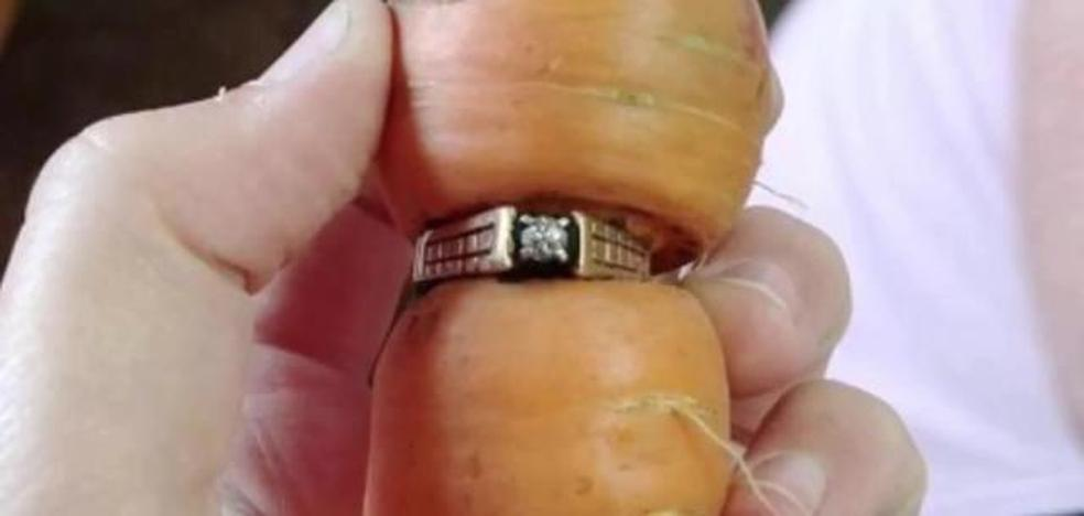 Una mujer de 84 años encuentra su anillo de bodas en una zanahoria trece años después