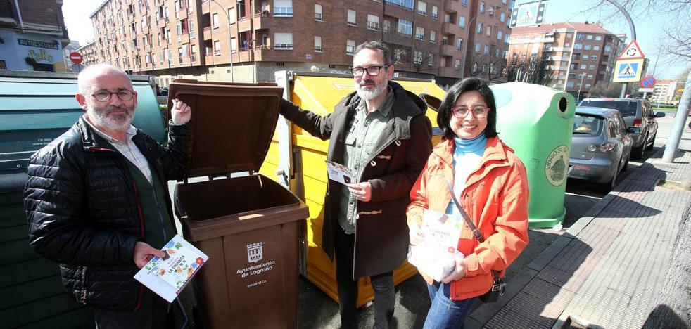 Logroño no tendrá contenedores de basura orgánica en la calle