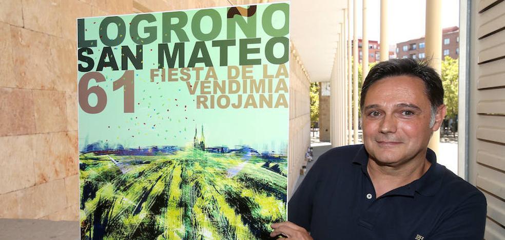 'Fiesta en la viña', de Manuel Romero, cartel ganador de las fiestas de San Mateo 2017