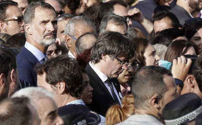 Puigdemont pide que no se «magnifiquen» los pitos a Felipe VI y al Gobierno