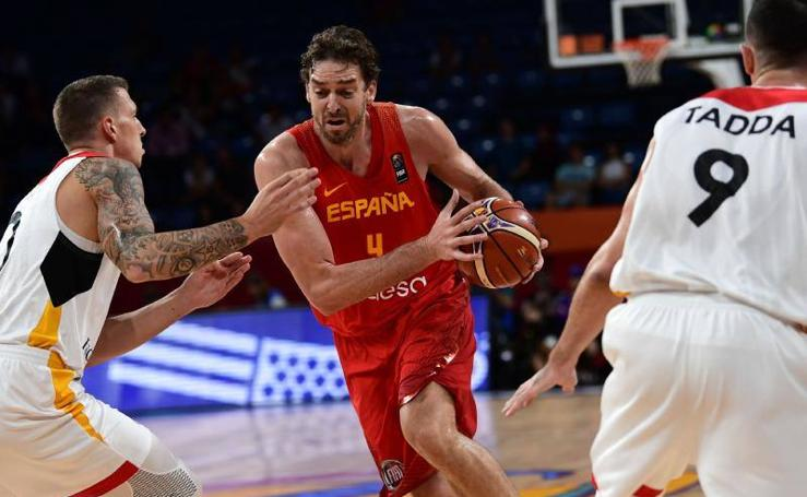 España derrota a Alemania en el Eurobasket