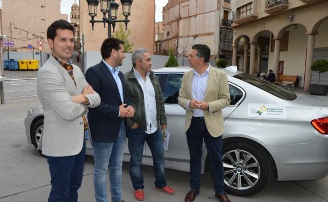 Los taxistas de Arnedo, en la zona de taxi de La Rioja Baja