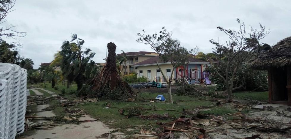 Cuando un huracán pasa cerca