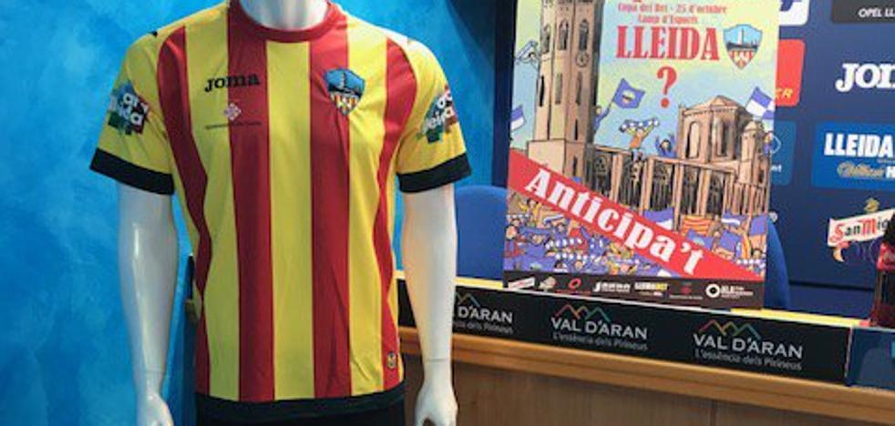Prohíben al Lleida Esportiu jugar con su camiseta de la señera