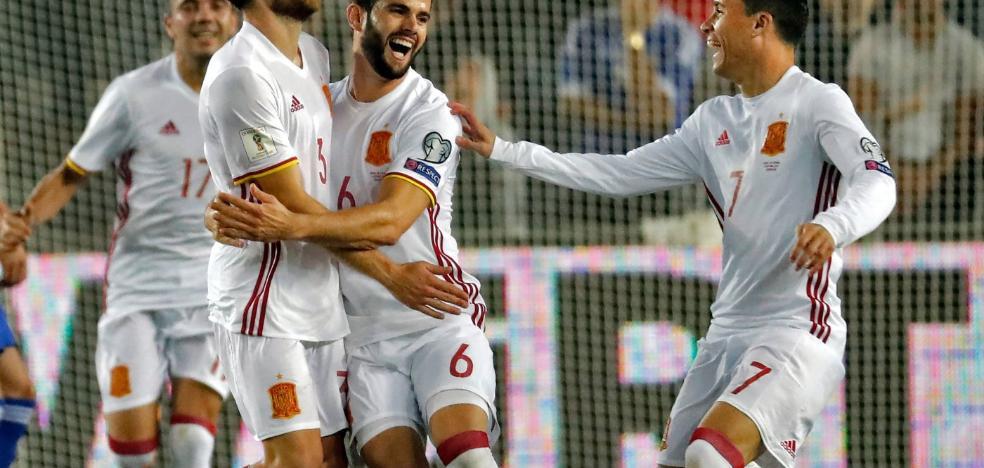 España encuentra un golazo en Tierra Santa