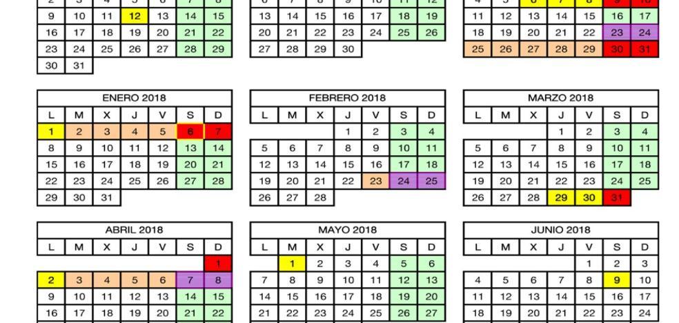 Un calendario cargado de emociones