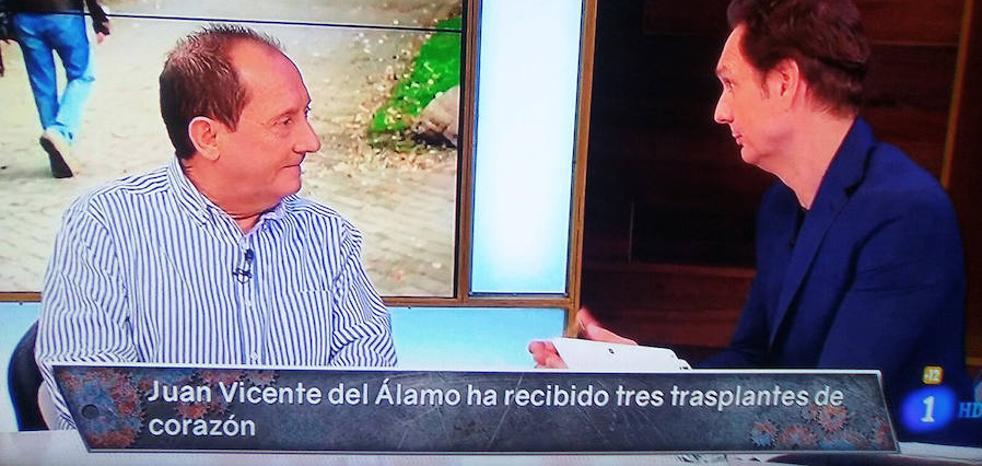 Juanvi del Álamo, invitado de Javier Cárdenas en TVE