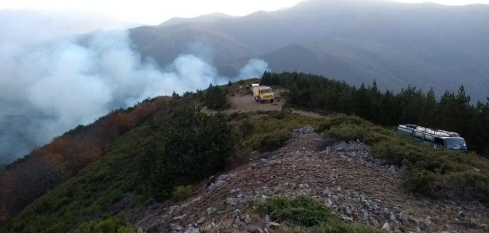 El incendio de Posadas ha arrasado 98 hectáreas de masa forestal
