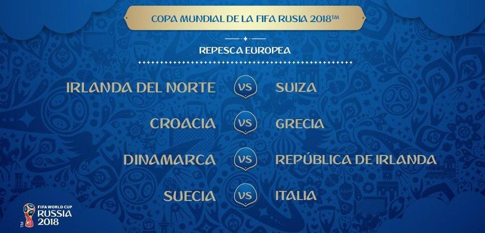 Croacia-Grecia y Suecia-Italia, duelos estrellas de la repesca