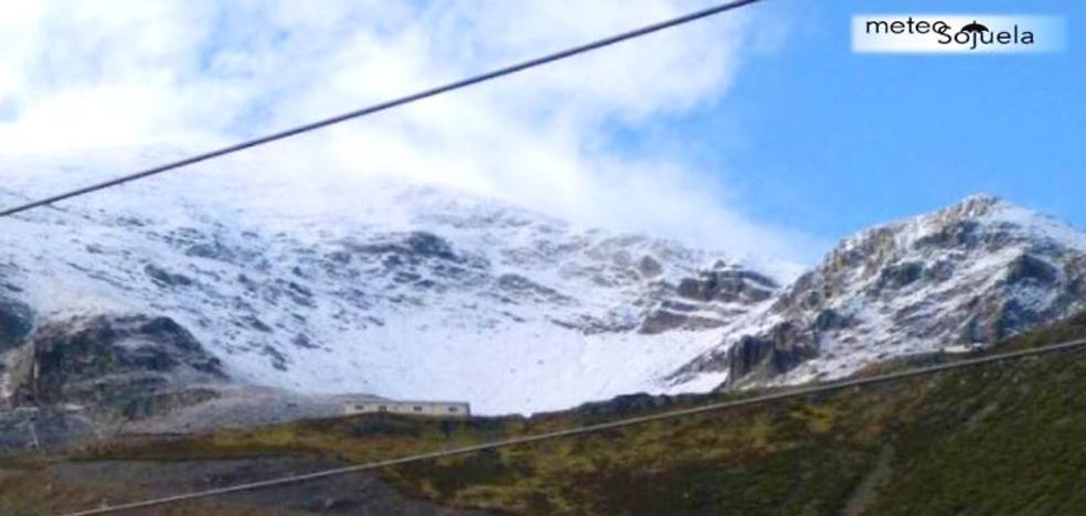 Primera capa de nieve en La Rioja