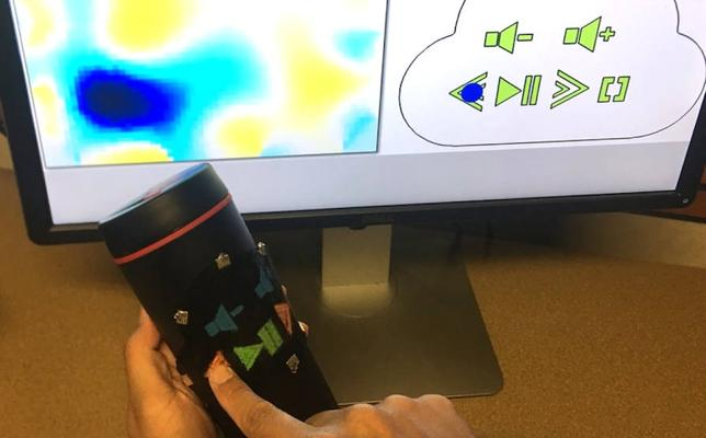 Crean un material que crea gadgets táctiles sin circuitos