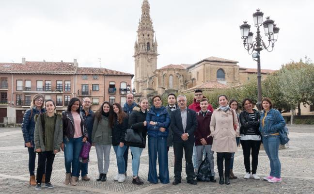 Alumnos italianos, en la Escuela de Hostelería