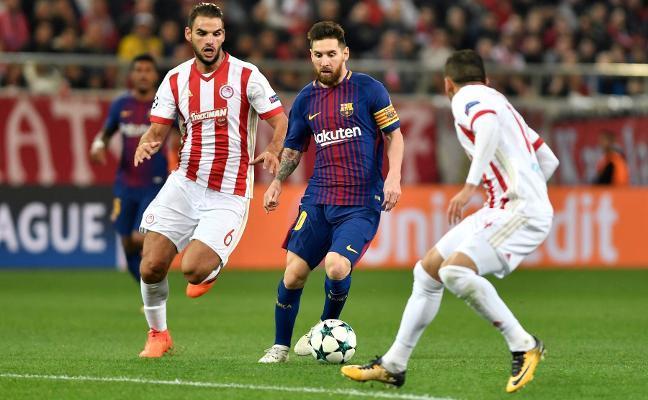 El Barcelona tropieza con el Olympiacos
