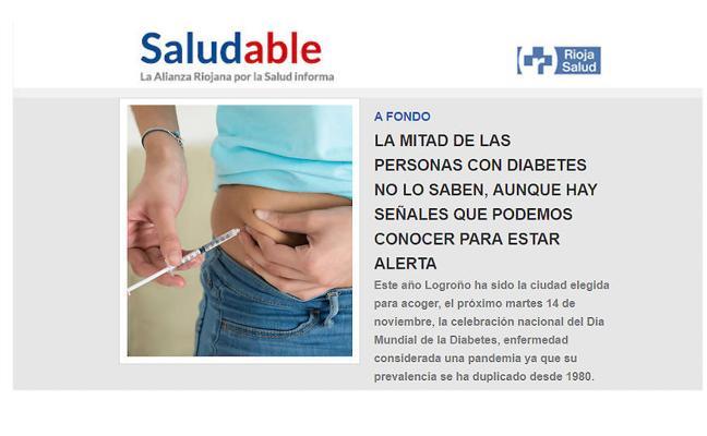 Salud dedica el último número de su revista a la diabetes