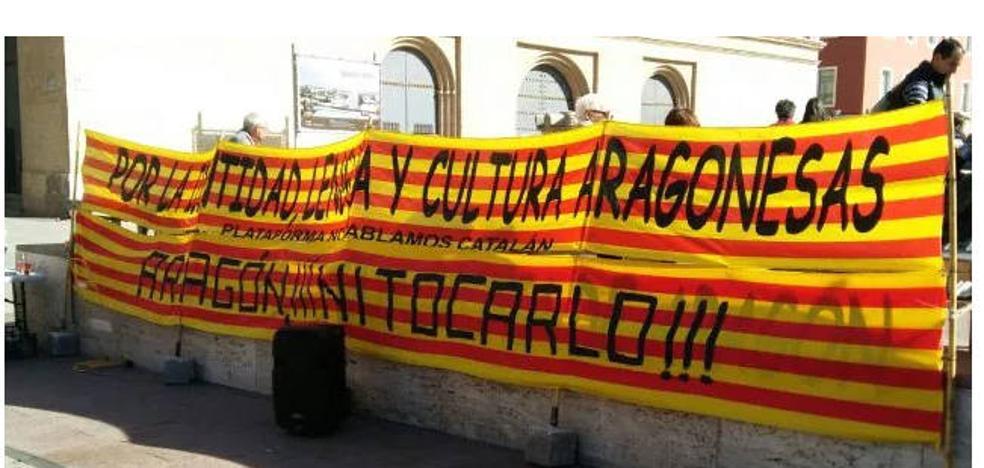 La Plataforma aragonesa muestra en Logroño su rechazo a la implantación del catalán en Aragón oriental