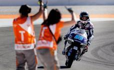Y por fin Martín ganó en una carrera con triplete español