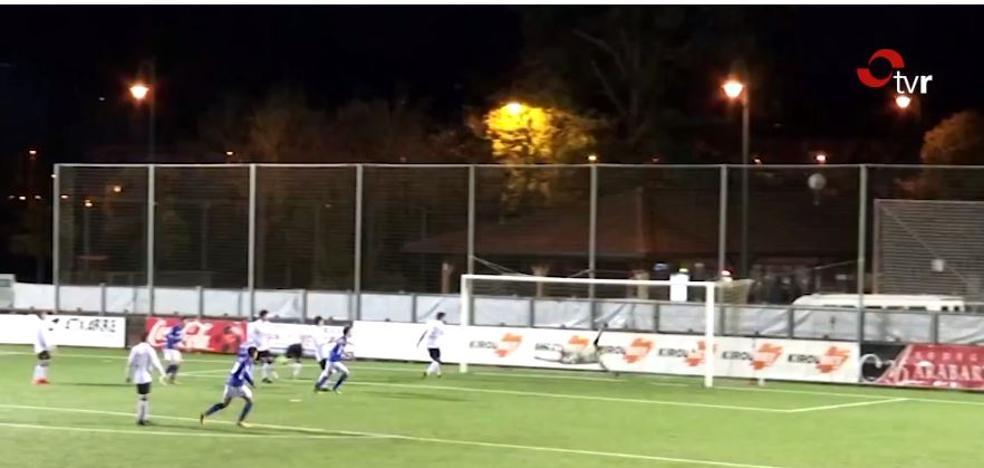 Rayco da la victoria a la UD Logroñés en Gernika