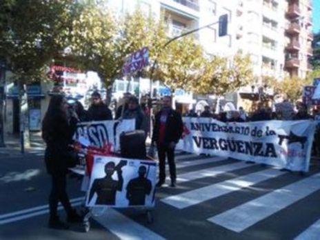 Cientos de personas se manifiestan por el aniversario del 14N