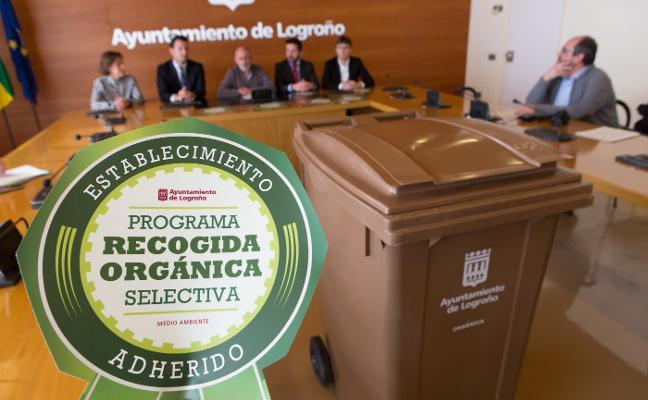 Los 'súper' de Logroño se comprometen a la retirada selectiva de restos orgánicos