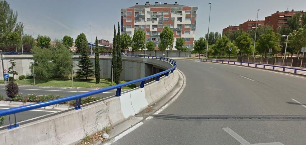 Herido un ciclista en accidente de tráfico en Logroño