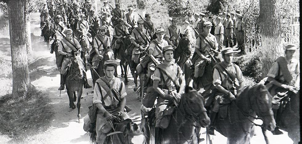 La Retina: cadetes a caballo por Ezcaray