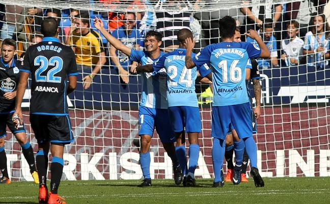 Un gol de Borja Bastón salva al Málaga