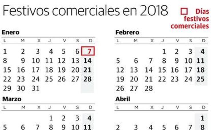 El comercio riojano abrirá diez festivos en 2018
