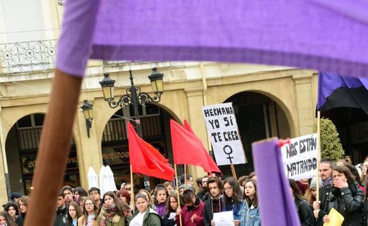 Actos contra la violencia de género en Logroño