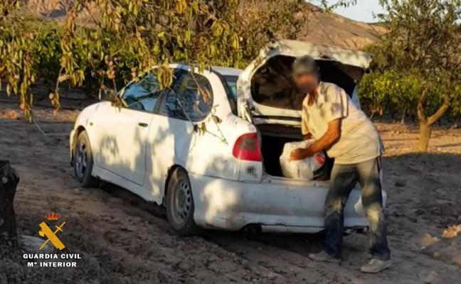 Siete detenidos en Arnedo por robar más de 194 toneladas de almendra