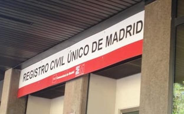 Registro Civil Único de Madrid./