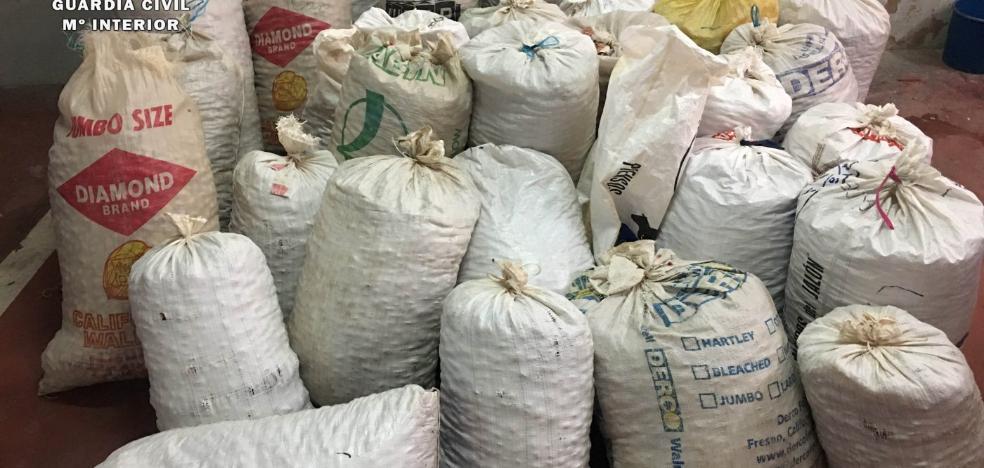 La Guardia Civil detiene a siete personas por el robo de 194.000 kilos de almendras