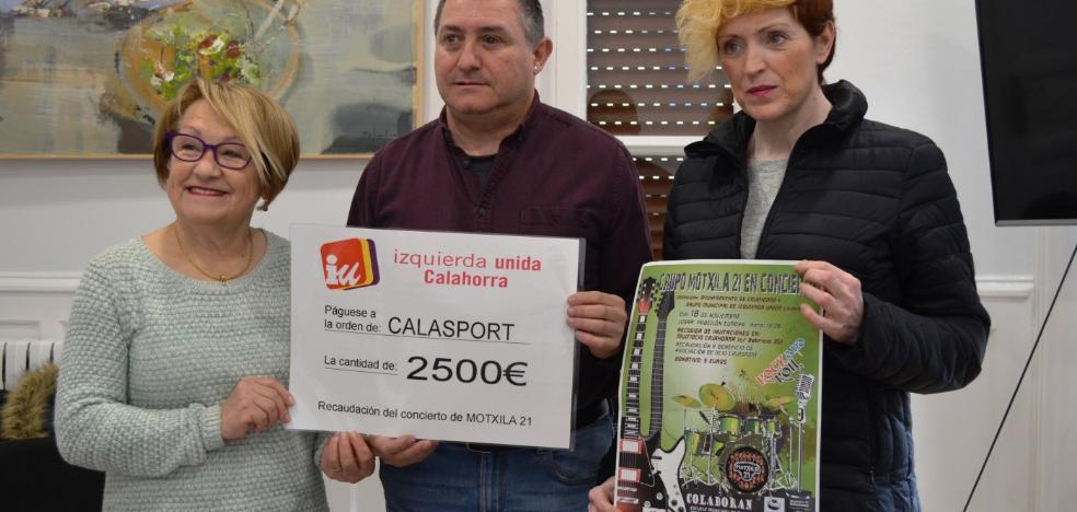 IU de Calahorra dona 2.500 euros a Calasport