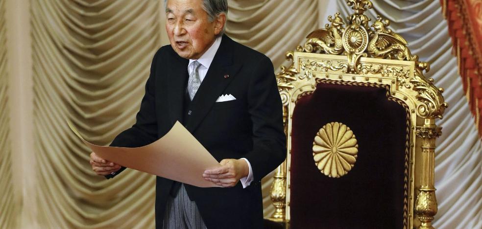 El emperador de Japón anuncia su abdicación en 2019