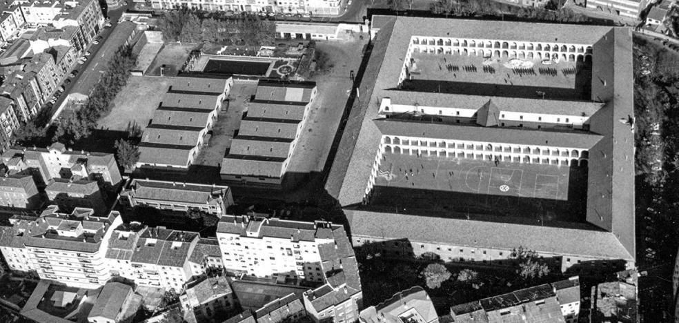 Vista aérea de los cuarteles de Logroño